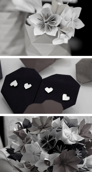 bannière page mariage origami mobile