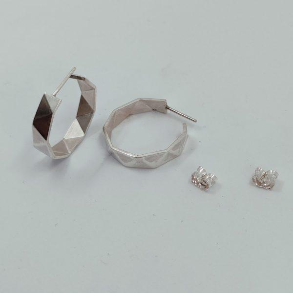 origami Créoles argent (3)
