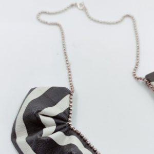 Collier cuir Black & White