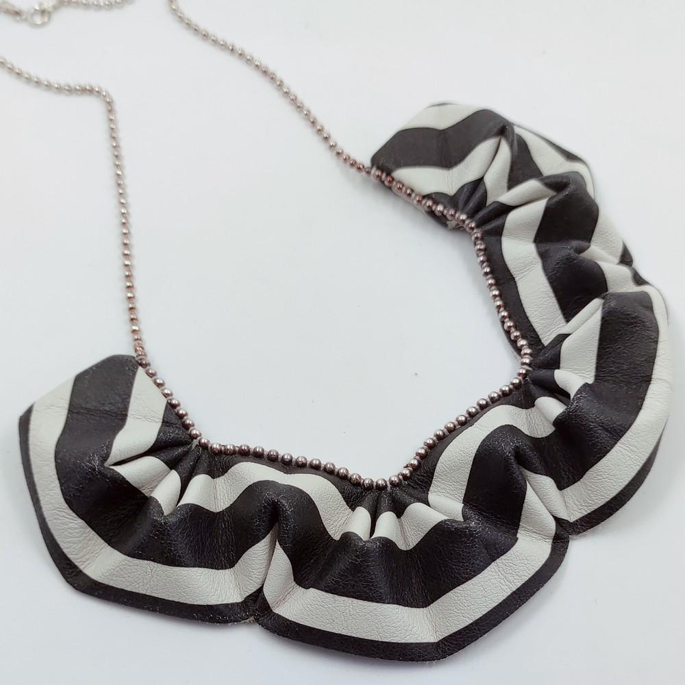 origami collier Black & White (3)